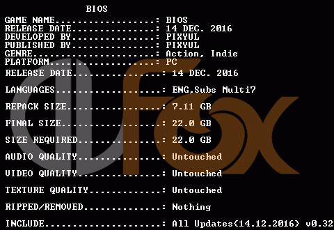 دانلود نسخه فشرده بازی BIOS برای PC