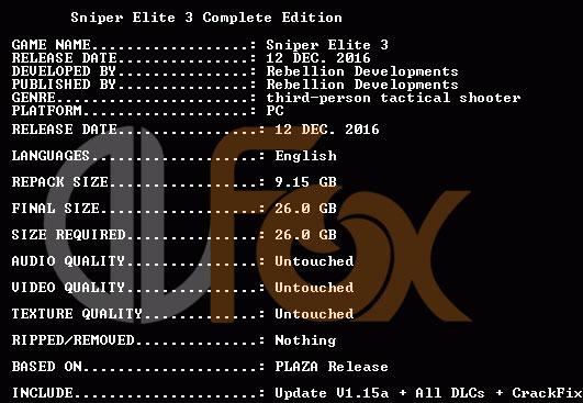 دانلود نسخه فشرده بازی Sniper Elite 3 Complete برای PC