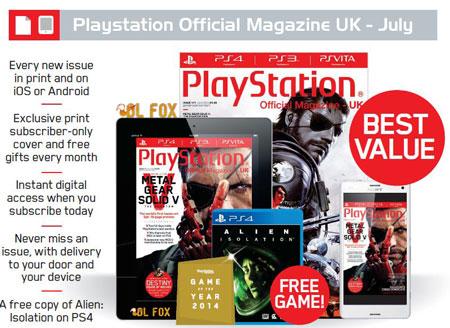 دانلود مجله Playstation Magazine UK-July 2015