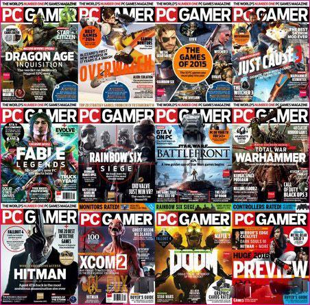دانلود کالکشن ۲۰۱۵ مجموعه مجله PC Gamer USA