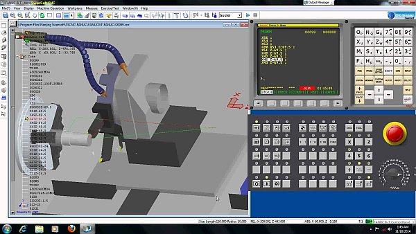 شبیه ساز حرفه ای دستگاه  CNC برای PC