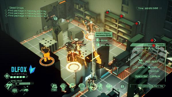 دانلود نسخه فشرده بازی All Walls Must Fall – A Tech-Noir Tactics Game برای PC