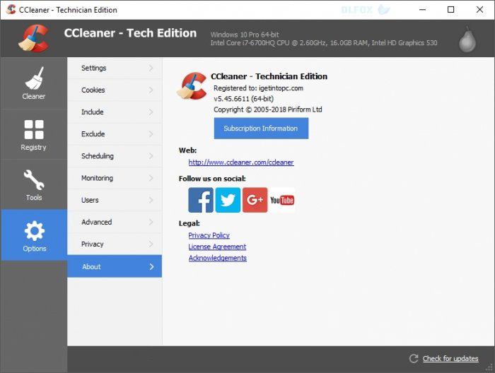 دانلود نسخه نهایی نرم افزار CCleaner Technician برای PC
