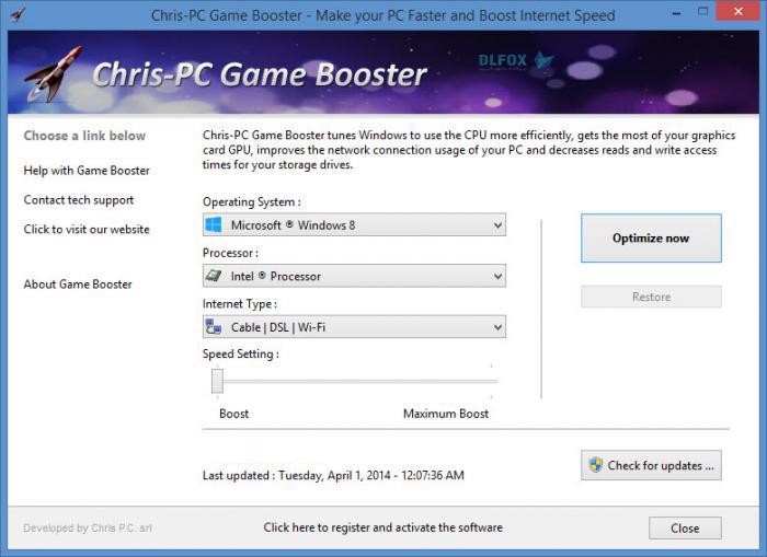 دانلود نسخه نهایی نرم افزار Chris-PC Game Booster برای PC