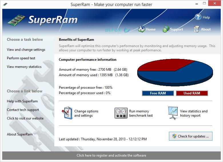 دانلود نسخه نهایی نرم افزار PGWare Super Ram برای PC