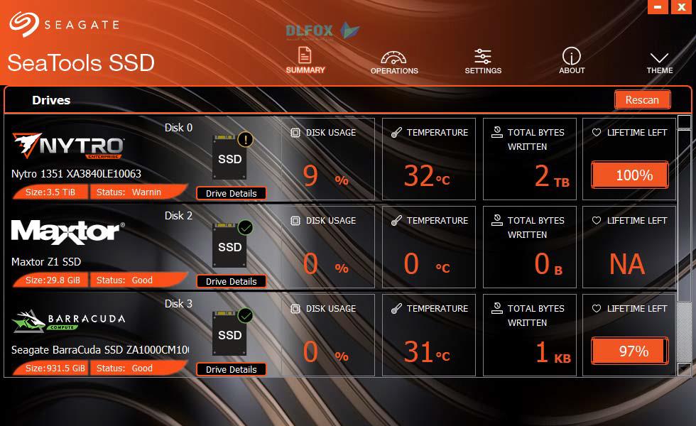 دانلود نسخه نهایی نرم افزار Seagate SeaTools SSD GUI برای PC