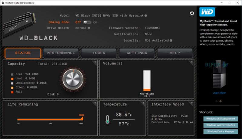 دانلود نسخه نهایی نرم افزار Western Digital WD SSD Dashboard برای PC