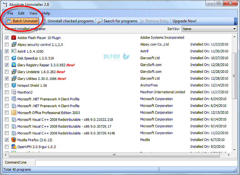 دانلود نسخه نهایی نرم افزار Glary Absolute Uninstaller برای PC