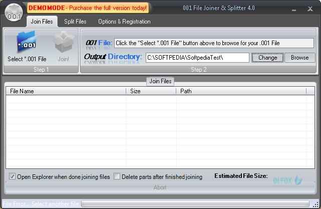 دانلود نسخه نهایی نرم افزار ۰۰۱File Joiner & Splitter برای PC