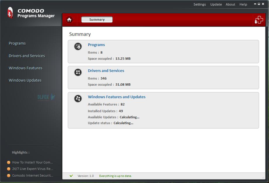 دانلود نسخه نهایی نرم افزار Comodo Programs Manager برای PC