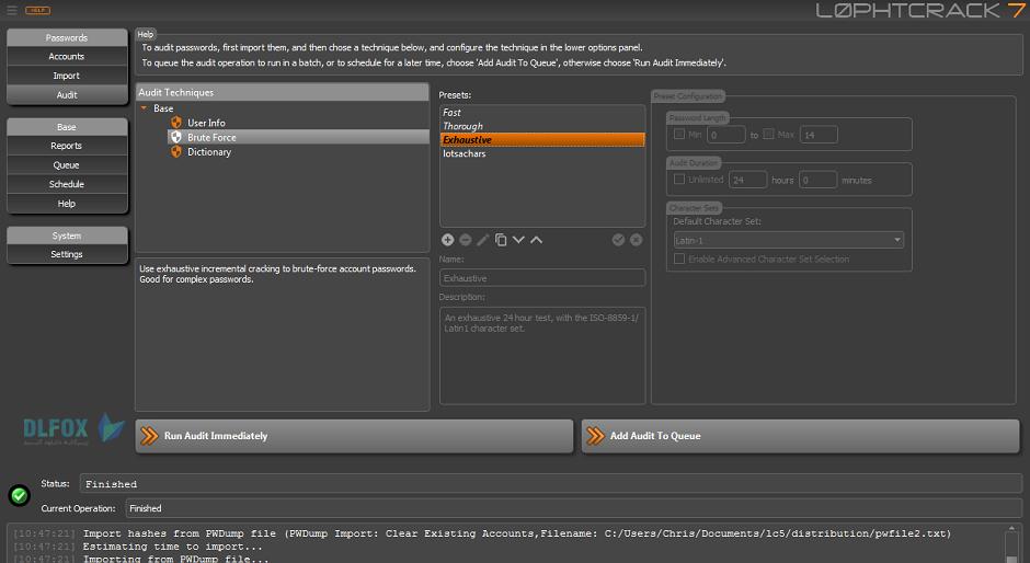 دانلود نسخه نهایی نرم افزار L0phtCrack Password Auditor برای PC