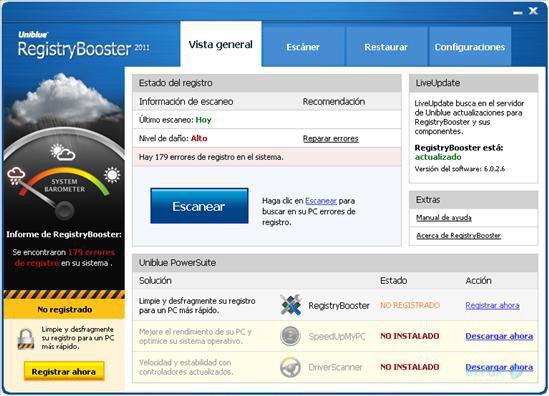 دانلود نسخه نهایی نرم افزار Uniblue Registry Booster برای PC