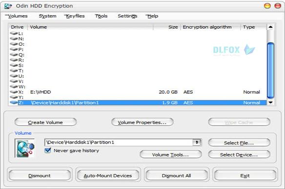 دانلود نسخه نهایی نرم افزار Odin hdd encryption برای PC